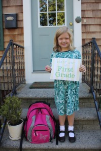 Mason on her first day of 1st grade.