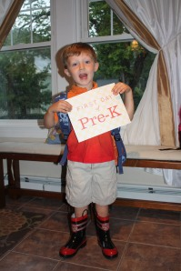 Cooper on his first day of Pre-K.