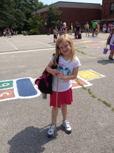 Mason on her last day of first grade.
