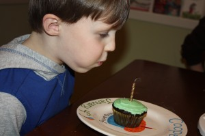 And yummy chocolate cupcakes as requested by the birthday boy.